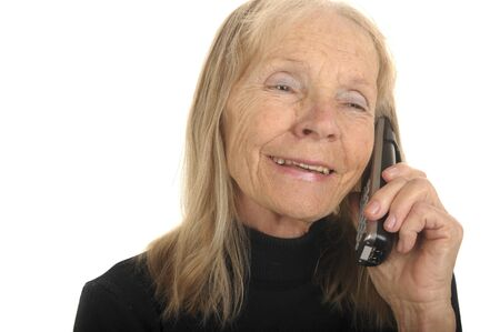 Cute Image Of a Senior woman On Phone