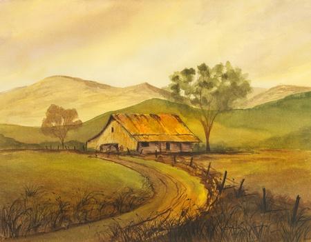 and painting: Pintura Acuarela original muy bonito sobre el papel