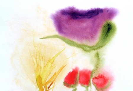 very nice small scale watercolor painting on paper photo