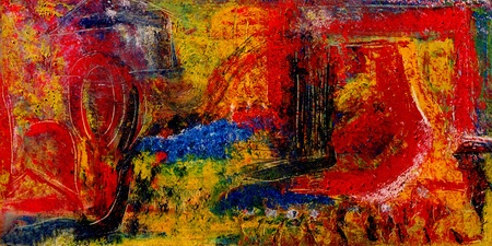 Image of a Very large scale mixed media painting On Canvas photo