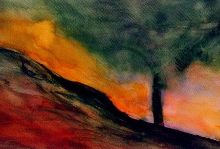 Nice Image Of a Original Abstract watercolor painting photo