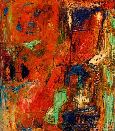 abstract paintings: Image of a Original Mixed media Abstract Oil Painting on Canvas