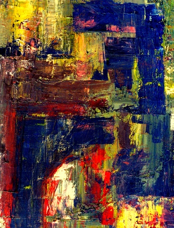 Nice Image of an original Abstract painting On canvas Stock Photo - 11089613