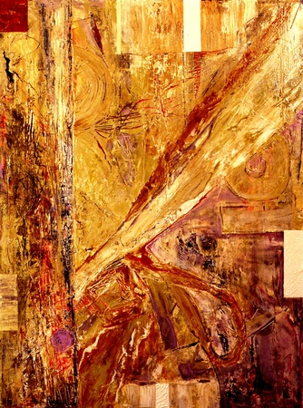 abstract paintings: Image of a Mixed media Original oil On canvas