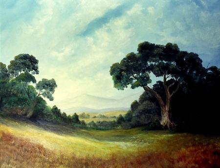 オリジナルのオイルの絵画のキャンバスの非常に素晴らしい画像