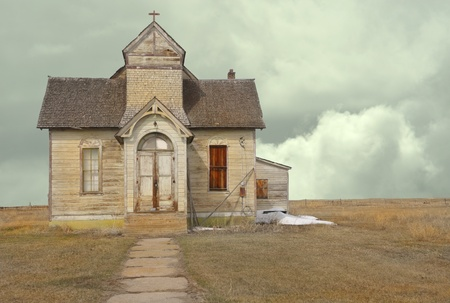 mormon: Nice Image Of a abandoned vintage Mormon church