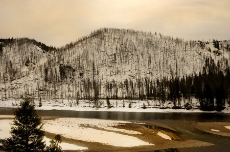 Beautiful Image of the Wyoming Rockies in The dead of winter photo