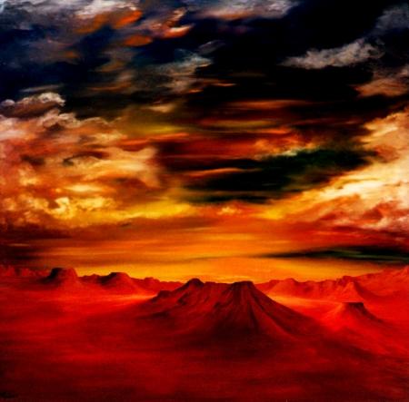 Afbeelding van een gedeeltelijke Airbrush olieverfschilderij