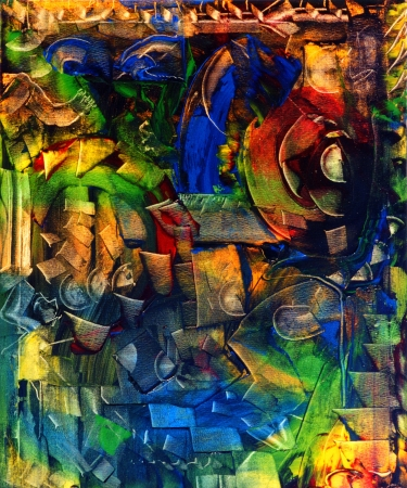 Very Interesting Large scale Abstract On Canvas