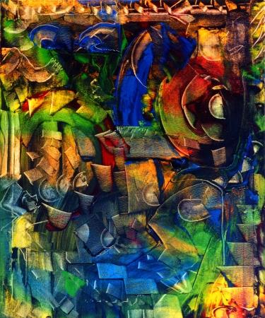 Very Interesting Grootschalige Samenvatting op Canvas Stockfoto