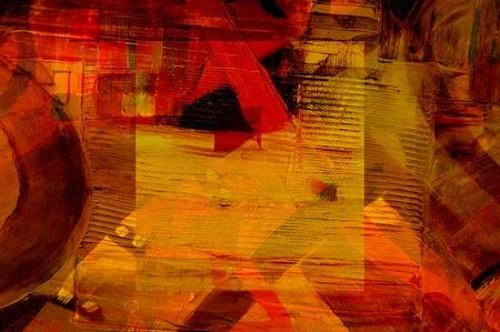 Mooi Beeld van een grootschalige Abstract Olieverf op doek