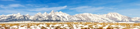 Beautiful Very useful Image Of the Grand teton Mountain Range Stock Photo - 11089732
