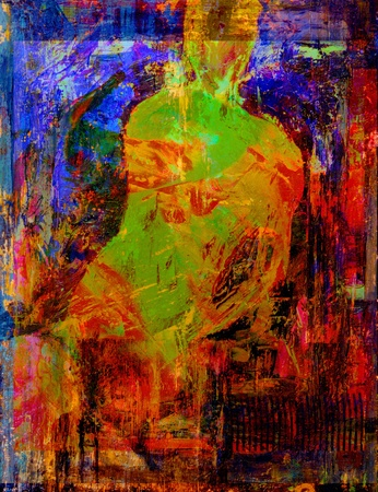 abstract paintings: Interesting Very abstract Oil Painting On Canvas