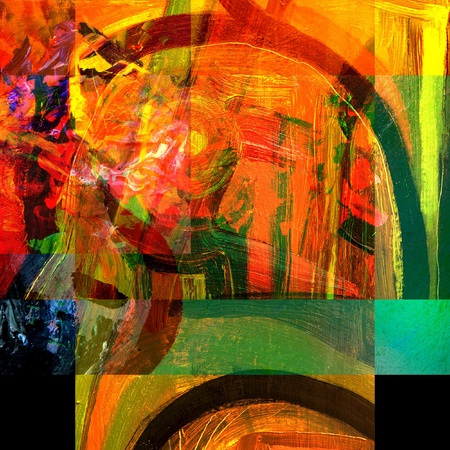 very nice Image of an original Large scale Abstract Painting In Canvas