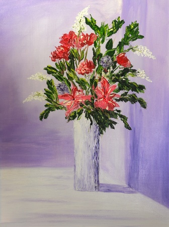 Beautiful Image Of an Original Oil Painting On Canvas Stock Photo