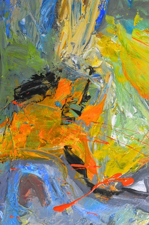 abstract paintings: Beautiful Image Of an Original Oil Painting On Canvas Stock Photo