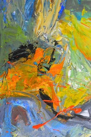 Mooi beeld van een origineel olieverfschilderij op Canvas