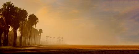 베니스 보드 워크, 로스 앤젤레스의 아름다운 이른 아침 이미지