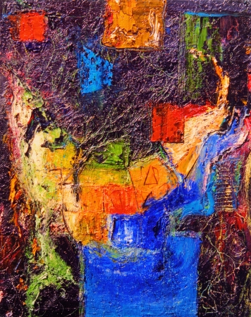belle peinture originale à l'huile abstraite sur toile