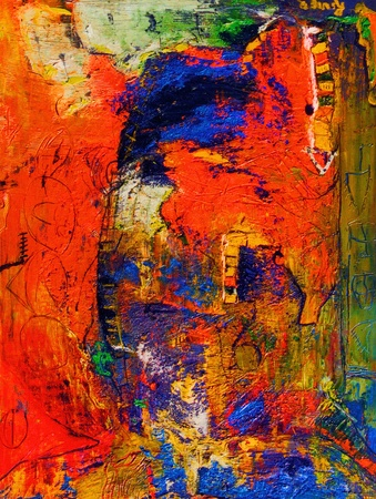 abstract paintings: Nice Image of an Original Oil Painting on canvas