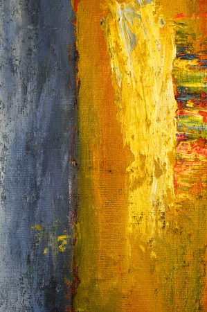 Very Nice Image of a large scale abstract Original painting Stock Photo