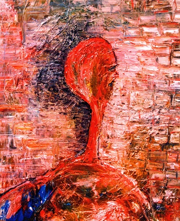 Nice abstract Figure Original Painting On Canvas Imagens - 11142450