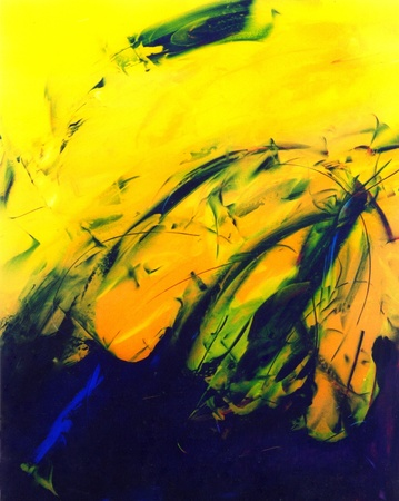 Mooie Originele afbeelding van een abstract schilderij Op Glas Stockfoto