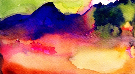 Very nice original abstract Landscape Watercolor photo