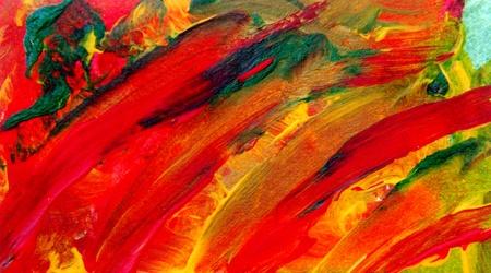 cuadro abstracto: Buena imagen de una pintura original en papel