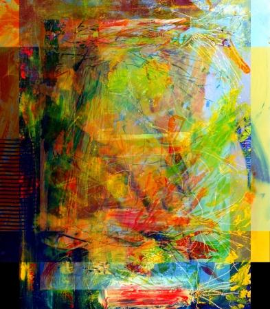 Mooi beeld van een grootschalige abstracte Schilderen
