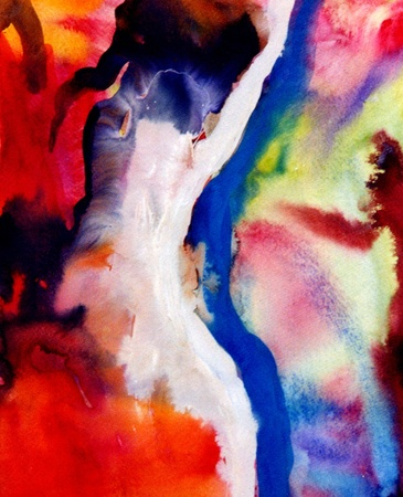 Nice Image of a large scale Abstract Painting in watercolor Imagens - 11142305