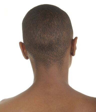 An Interesting Image of a Afro American woman from Behind Stock Photo - 11142229