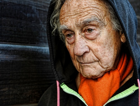 Nice emotional Portrait Image Of a sad senior Man Stock Photo - 11142458