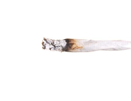 marihuana: Primer plano de la imagen de un cigarrillo de marihuana aisladas