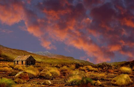 Beautiful image of the American Frontier with old house Stock Photo - 11280750