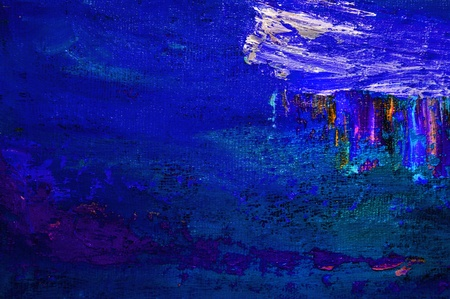 acrylic: Nice Image Of a Large scale Original Oil Painting Stock Photo