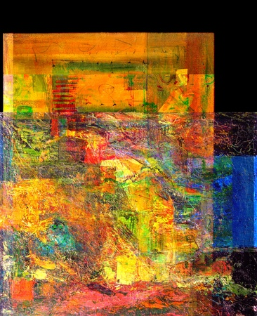 abstract paintings: Nice original Large Oil Painting On Canvas Stock Photo