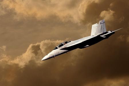 avion de chasse: Belle image d'un jet plongée chasse sur des