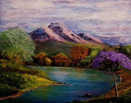 Mooie Kleinschalige Origineel Olieverfschilderij op canvas
