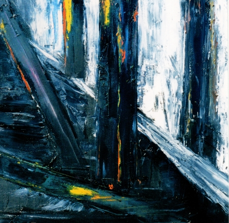 Very Large scale Original Abstract Painting On Canvas Stock Photo - 11280690