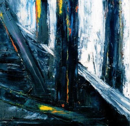abstrakte malerei: Very Large Scale Original-abstrakte Malerei auf Leinwand
