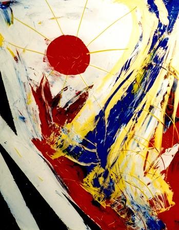 Mooie Abstract beeld van acryl op Glas originele schilderij Stockfoto