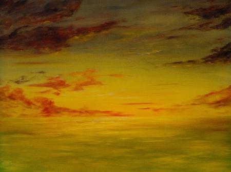 Beautiful Image of a Original Seascape Oil On Canvas 版權商用圖片