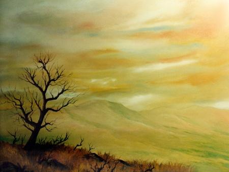 Very Nice ursprüngliche Landschaft Öl auf Leinwand Standard-Bild - 11280742