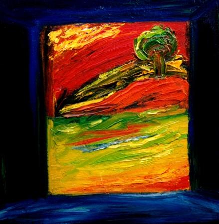 Very Nice Afbeelding van een abstracte origineel olieverfschilderij Stockfoto