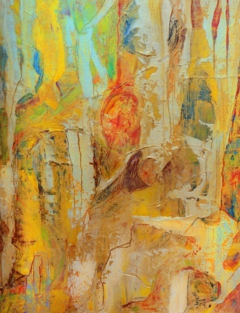 Nice Image of an original Abstract Oil painting on canvas 写真素材