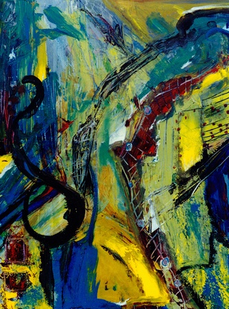 Nice original abstract oil painting On Canvas Standard-Bild