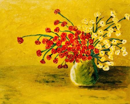 Pintura original de aceite de Very Nice realizada el lienzo Foto de archivo - 11869828