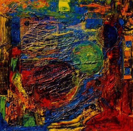 Nice Image of a Large mixed media original Painting