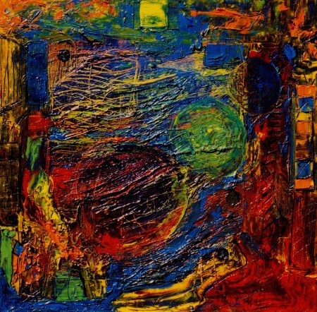 Bonita imagen de una gran pintura mixta de medios original Foto de archivo - 11876948